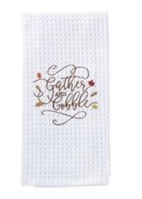 ****Gather & Gobble Waffle Weave Towel