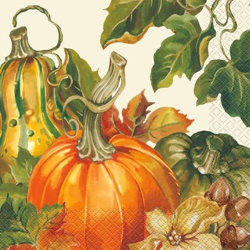 ***Harvest Pumpkin Lunch Napkin