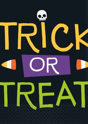 ***Skeleton Trick or Treat Lunch Napkins 16ct