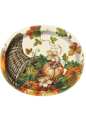 ***Harvest Pumpkins Oval Platter