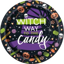 ***Skeleton Trick or Treat 7in Plate