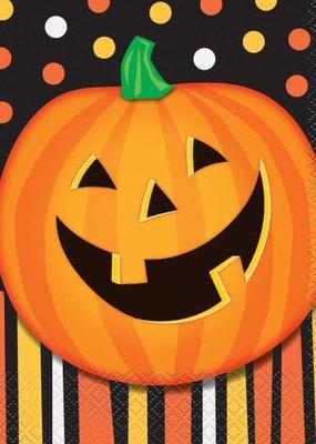 ***Smiling Pumpkin Lunch Napkins 16ct