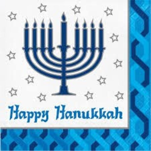 Menorah Lunch Napkin