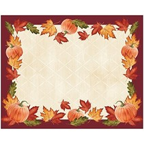 ***Pumpkin Leaves Placemats 12ct