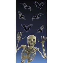 *Skeleton Eerie Estate Plastic Treat Bags 20ct