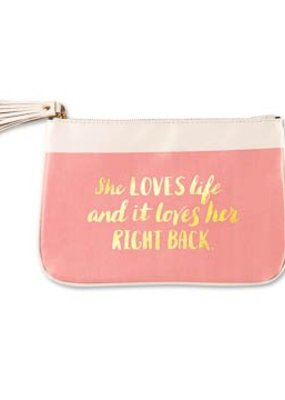 ***She Loves Life Makeup Pouch