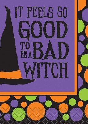 ***Bad Witch Beverage Napkins 16ct