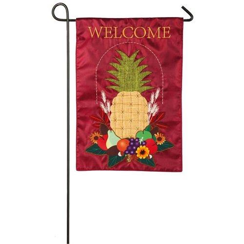 Harvest Pineapple Garden Burlap Flag
