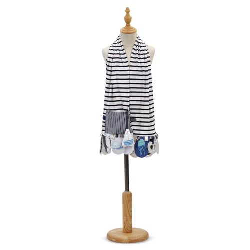 Mommy & Me Activity Scarf in Blue
