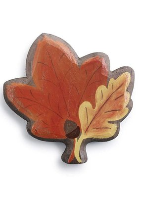 Fall Leaf Magnetic Wood Token