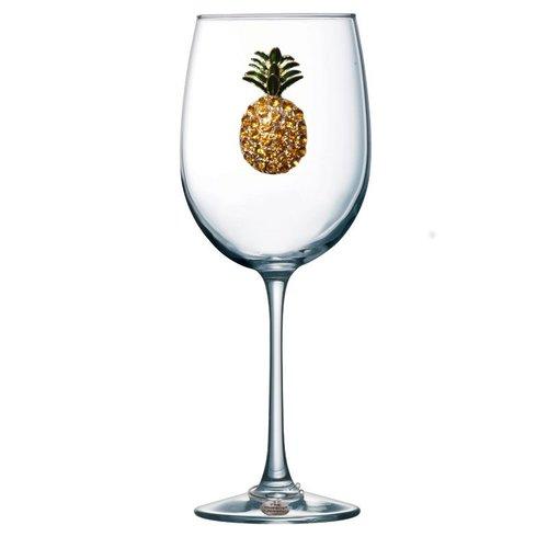 Queen's Jewels Pineapple Stemmed Wine Glass