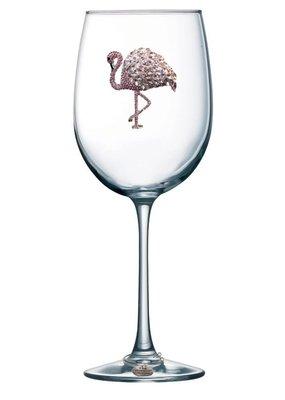 Queen's Jewels ***Flamingo Stemmed Wine Glass