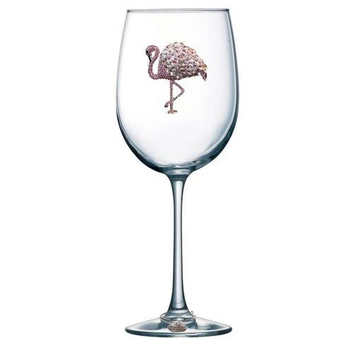 Queen's Jewels Flamingo Stemmed Wine Glass