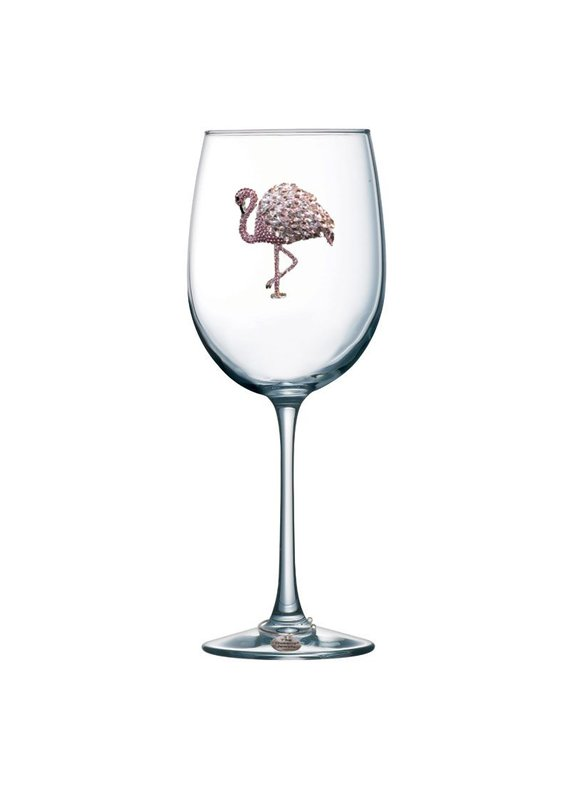 Queen's Jewels ***Flamingo Stemmed Wine Glass