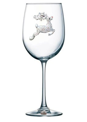 Queen's Jewels ***Reindeer Stemmed Wine Glass