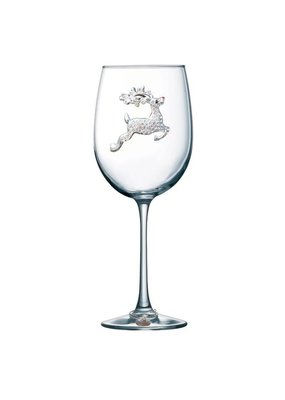 Queen's Jewels ***Reindeer Stemmed Wine Glass