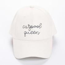 Carpool Queen White Hat
