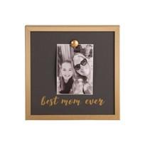 ***Gold Magnet Best Mom Ever Photo Frame
