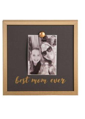 EverEllis ***Gold Magnet Best Mom Ever Photo Frame