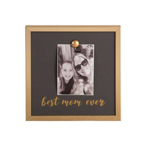 EverEllis Gold Magnet Best Mom Ever Photo Frame