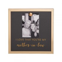 Gold Magnet Mother In Law Photo Frame