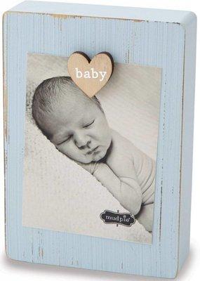 ***Blue Baby Clip Frame