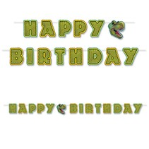 ***Happy Birthday Dinosaur Streamer Banner