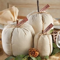Linen Pumpkin Set