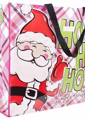 ***Simply Southern Economy Tote  Santa Ho Ho Ho