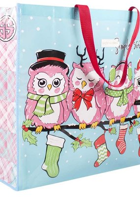***Simply Southern Economy Tote Owl Christmas