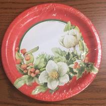 "*Hallmark Poinsettia Prettiness 7"" Dessert Plate"