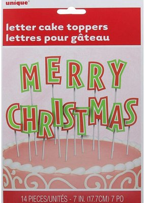 ***Merry Christmas Letter Cake Toppers (14 letters)