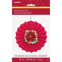 "*Decorative 12"" Fan Poinsettia"