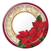 "*Poinsettia Lace 7"" Dessert plates 8ct"