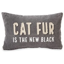 ***Cat Fur is the New Black Pillow