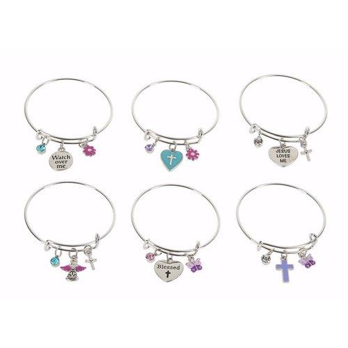 Child's Religious Bangle Bracelet