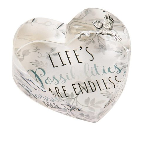 Life's Possibilites Are Endless Glass Paperweight