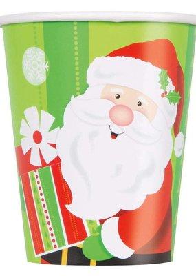***Happy Santa 9oz Cups 8ct