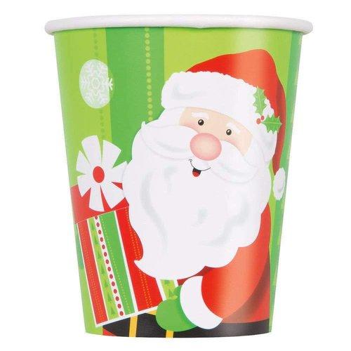 *Happy Santa 9oz Cups 8ct