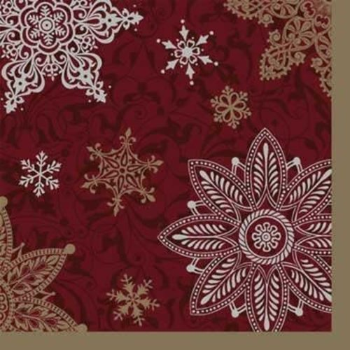 *Shimmery Snowflakes Beverage Napkins 16ct