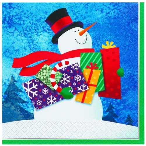 *Snowman Gifts Lunch Napkins 16ct
