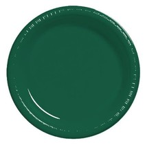 "***Hunter Green 10"" Plastic Banquet Plates 20ct"