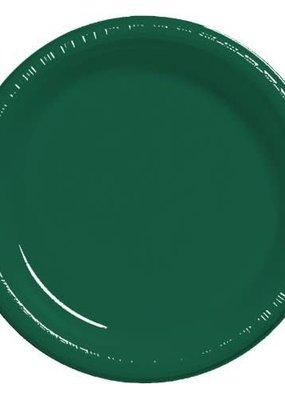 """***Hunter Green 10"""" Plastic Banquet Plates 20ct"""
