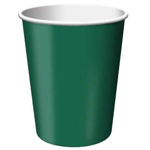 *Hunter Green 9oz Cups 24ct