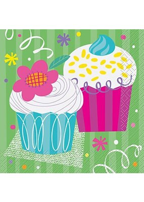 ***Cupcake Party Lunch Napkins