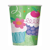 ***Cupcake Party 9oz Cups 8ct