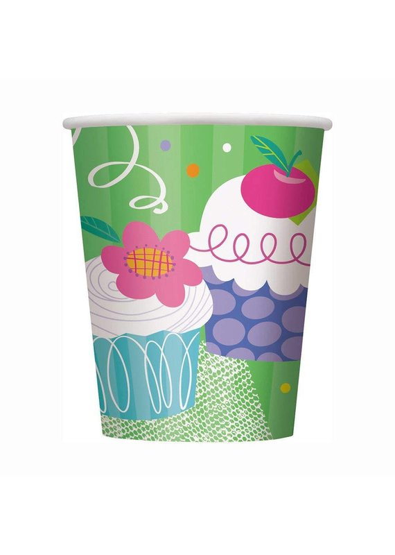 ****Cupcake Party 9oz Cups 8ct