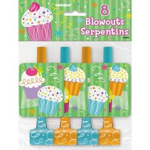 Cupcake Party Blowouts