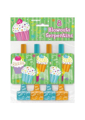 ***Cupcake Party Blowouts 8ct