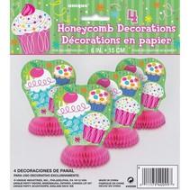 Cupcake Party Honeycomb Centerpieces
